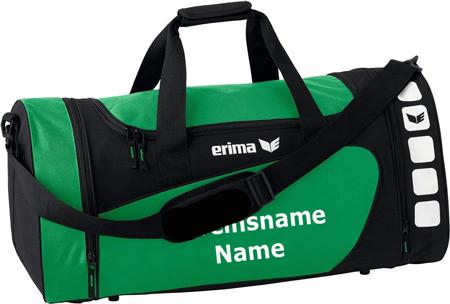 """Erima """"Club 5 Line"""" - Tasche - smaragd/schwarz"""