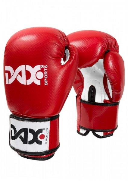 ONYX TT - Boxhandschuh - Kunstleder (Carbon-Optik) - rot