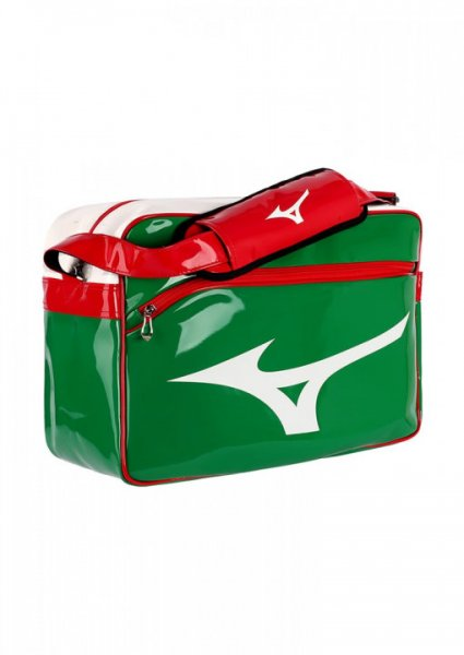 MIZUNO Enamel Bag, grün-rot-weiss