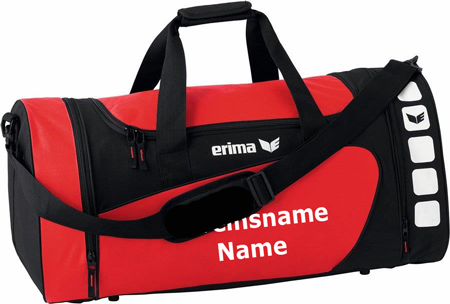 """Erima """"Club 5 Line"""" - Tasche - rot/schwarz"""