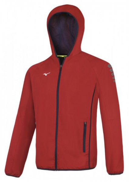 Herren Sportjacke MIZUNO M18, rot
