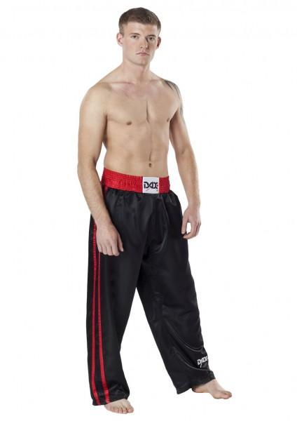 Hose Fighter - Satin - schwarz - roter Streifen