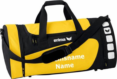 """Erima """"Club 5 Line"""" - Tasche - gelb/schwarz"""