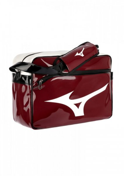 MIZUNO Enamel Bag, bordeaux-weiß